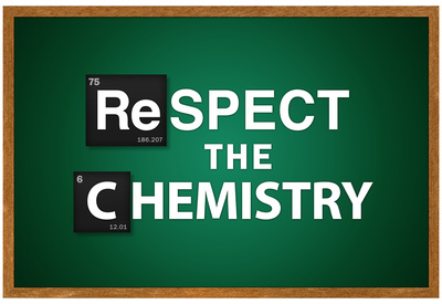 Respect the Chemistry, Breaking Bad geek geek chemistry pun poster