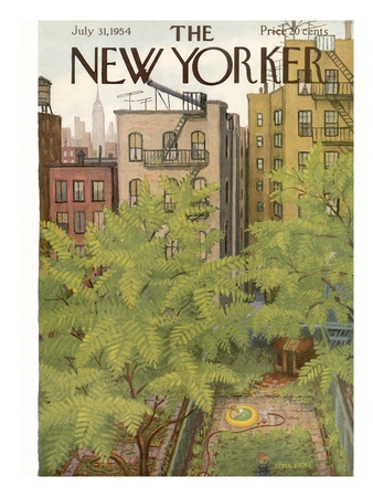 The New Yorker Cover - July 31, 1954 Giclee Print by Edna Eicke