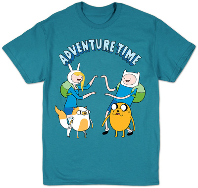 Adventure Time Fiona and Cake Meet Finn and Jake cartoon t-shirt