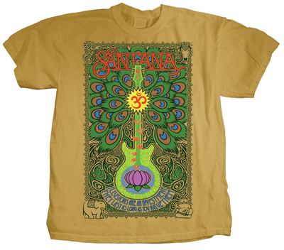 Santana – Lotus Guitar T-shirts
