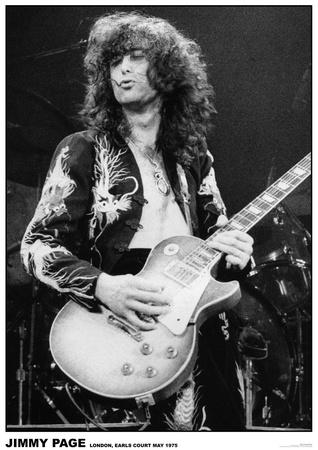 Led Zeppelin - Jimmy Page - Earls Court 1975 Kunstdrucke