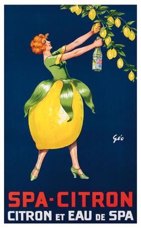 Spa-Citron,Citron et Eau de Spa, ca. 192 Prints