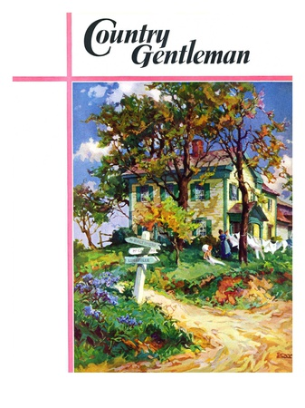 """Country Crossroads,"" Country Gentleman Cover, September 1, 1938 Giclee Print by G. Kay"