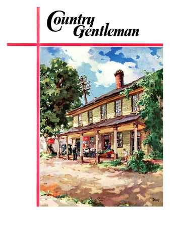 """Country Inn,"" Country Gentleman Cover, September 1, 1939 Giclee Print by G. Kay"