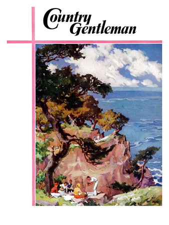"""Oceanside Picnic,"" Country Gentleman Cover, February 1, 1939 Giclee Print by G. Kay"