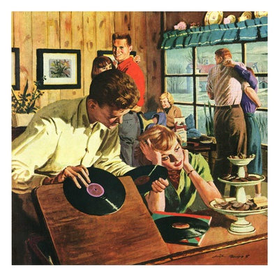 """""""Teenage Party,""""March 1, 1950 Giclee Print by Austin Briggs"""