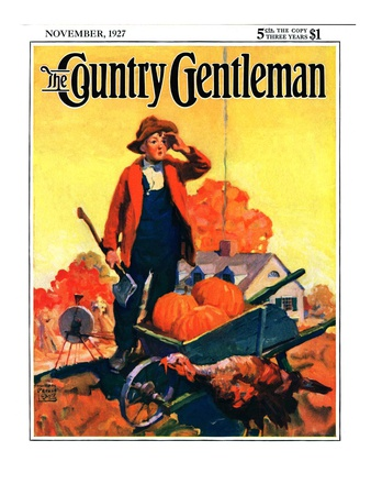 """""""Where's That Turkey,"""" Country Gentleman Cover, November 1, 1927 Giclee Print by William Meade Prince"""