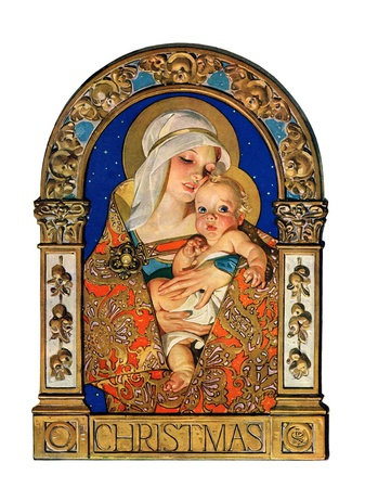 """Madonna and Child,""December 24, 1927 Giclee Print by Joseph Christian Leyendecker"