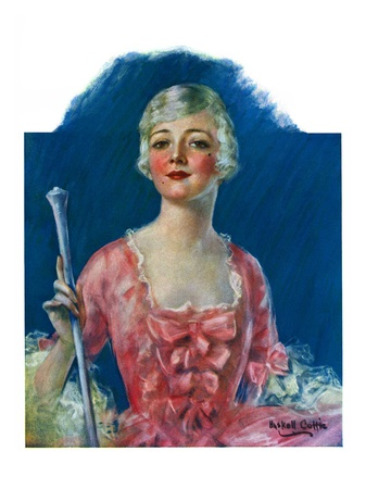 """""""Costumed Woman,""""December 10, 1927 Giclee Print by William Haskell Coffin"""