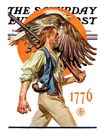 """Minute Man,"" Saturday Evening Post Cover, June 29, 1929 Giclee Print by Joseph Christian Leyendecker"
