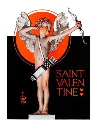 """St. Valentine, 1924,""February 16, 1924 Giclee Print by Joseph Christian Leyendecker"