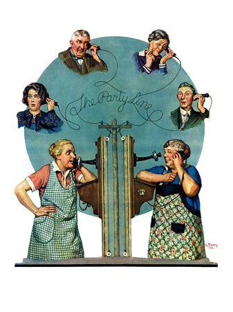 """""""Party Line,""""March 17, 1928 Giclee Print by Lawrence Toney"""