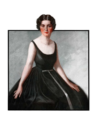 """""""Woman in Black Gown,""""March 29, 1924 Giclee Print by Henry Soulen"""