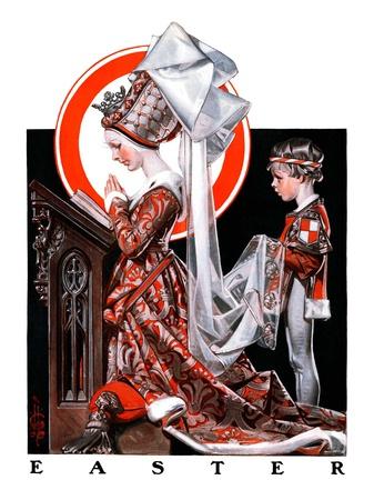 """Medieval Easter,""April 19, 1924 Giclee Print by Joseph Christian Leyendecker"