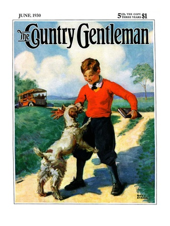 """School's Out,"" Country Gentleman Cover, June 1, 1930 Giclee Print by Ray C. Strang"
