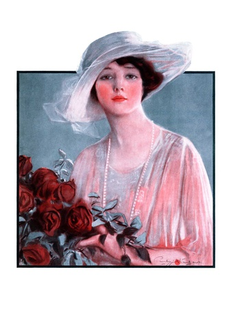 """""""Bouquet of Roses,""""May 24, 1924 Giclee Print by Penrhyn Stanlaws"""