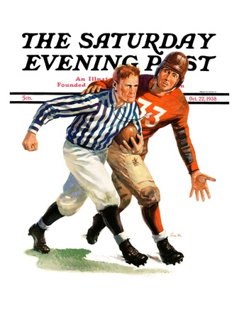 """""""But Ref!,"""" Saturday Evening Post Cover, October 22, 1938 Giclee Print by Lonie Bee"""