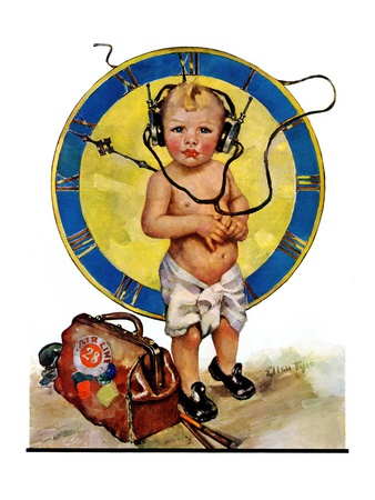 """""""Baby Pilot,""""January 28, 1928 Giclee Print by Ellen Pyle"""