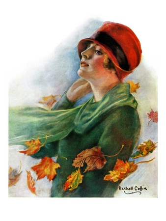 """""""Fall Leaves,""""November 5, 1927 Giclee Print by William Haskell Coffin"""