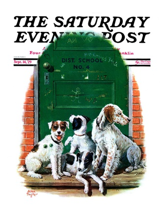 """""""Faithful Friends,"""" Saturday Evening Post Cover, September 14, 1929 Giclee Print by Alan Foster"""