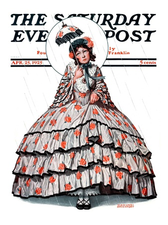 """""""Hoop Skirt,"""" Saturday Evening Post Cover, April 25, 1925 Giclee Print by Edmund Davenport"""