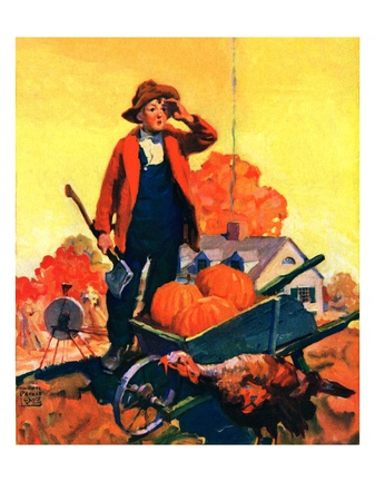"""""""Where's That Turkey,""""November 1, 1927 Giclee Print by William Meade Prince"""