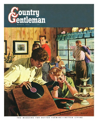 """""""Teenage Party,"""" Country Gentleman Cover, March 1, 1950 Giclee Print by Austin Briggs"""