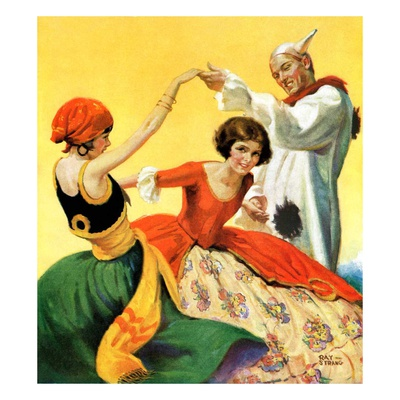 """Halloween Dance,""October 1, 1928 Giclee Print by Ray C. Strang"