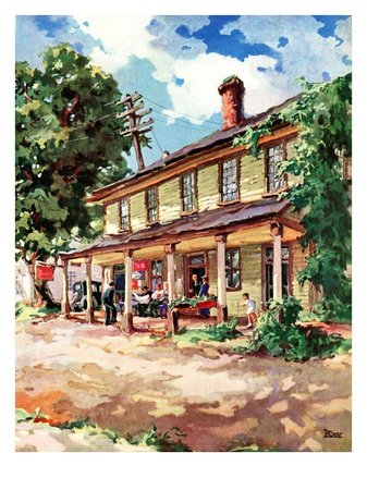 """Country Inn,""September 1, 1939 Giclee Print by G. Kay"