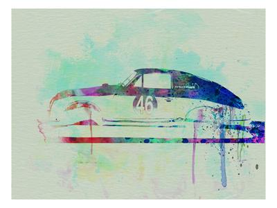 Porsche 356 Watercolor Print by  NaxArt