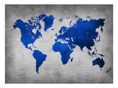 World  Map 10 Print by  NaxArt