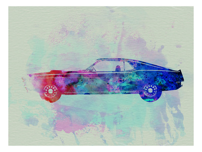 Ford Mustang Watercolor 1 Posters by  NaxArt