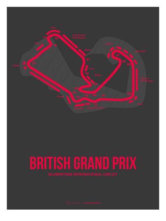 British Grand Prix 2 Posters by  NaxArt