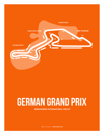 German Grand Prix 3 Prints by  NaxArt