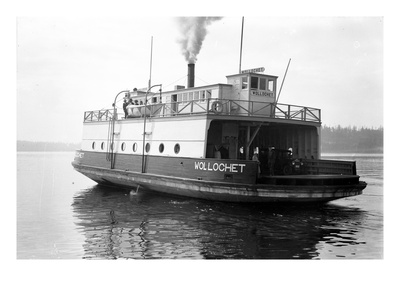Ferry Wollochet on Puget Sound Giclee Print by Marvin Boland