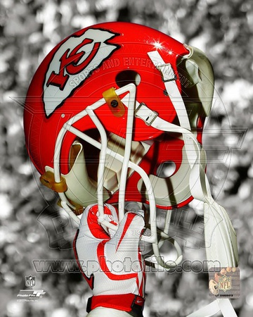 NFL Kansas City Chiefs Helmet Spotlight Photo