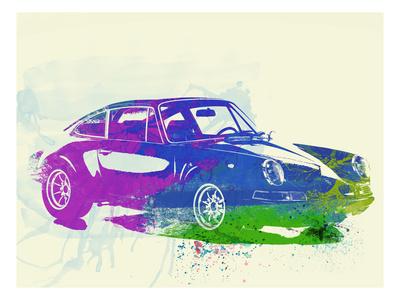 Porsche 911 Watercolor Art by  NaxArt
