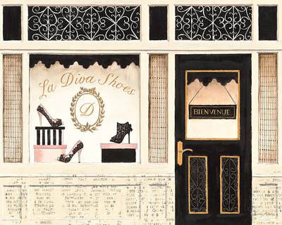 La Diva Shoes Posters by Emily Adams