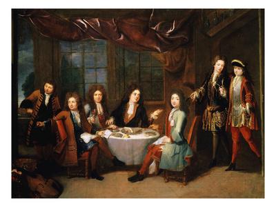 Le Déjeuner De Jambon, Ou Les Musiciens À La Table De Michel Richard Delalande Giclee Print by Robert Tournieres