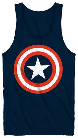 Tank Top: Captain America - 80's Captain Tank Top