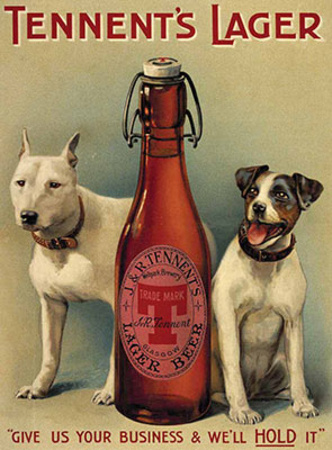 Tennents Lager Tin Sign