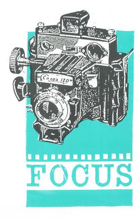 Focus Serigraph by  Print Mafia