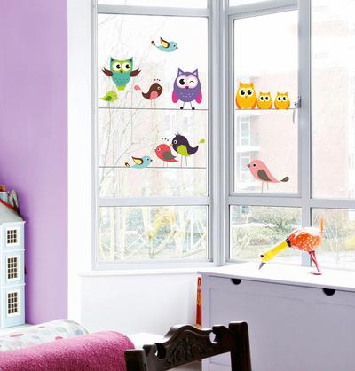 Funny Forest (Window Decal) Okenní nálepky