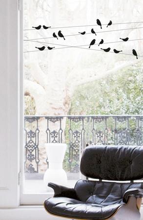 Good Morning Birdies (Window Decal) Pencere Çıkartmaları