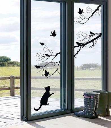 Kitty (Window Decal) Pencere Çıkartmaları