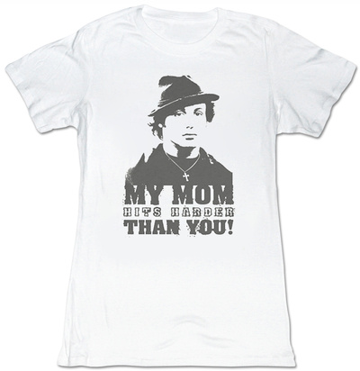 Juniors: Rocky - My Mom Hits Harder T-Shirt