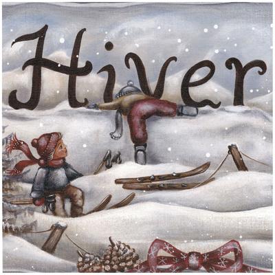 Hiver Ski Art by Stephanie Holbert