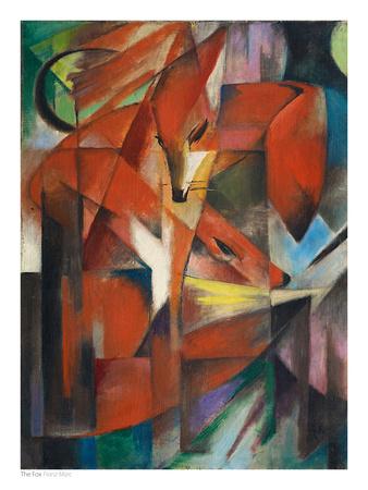 Der Fuchs Kunstdruck von Franz Marc