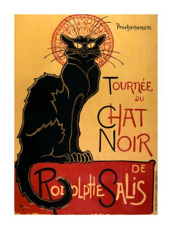 Tournee der schwarzen Katze, ca. 1896 Poster von Théophile Alexandre Steinlen
