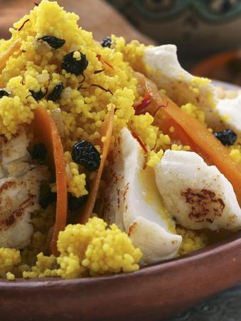 Saffron Couscous with Fish, Carrots and Raisins (N. Africa) Lámina ...